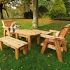 Kids Wooden Garden Table Set with Chairs & Benches/
