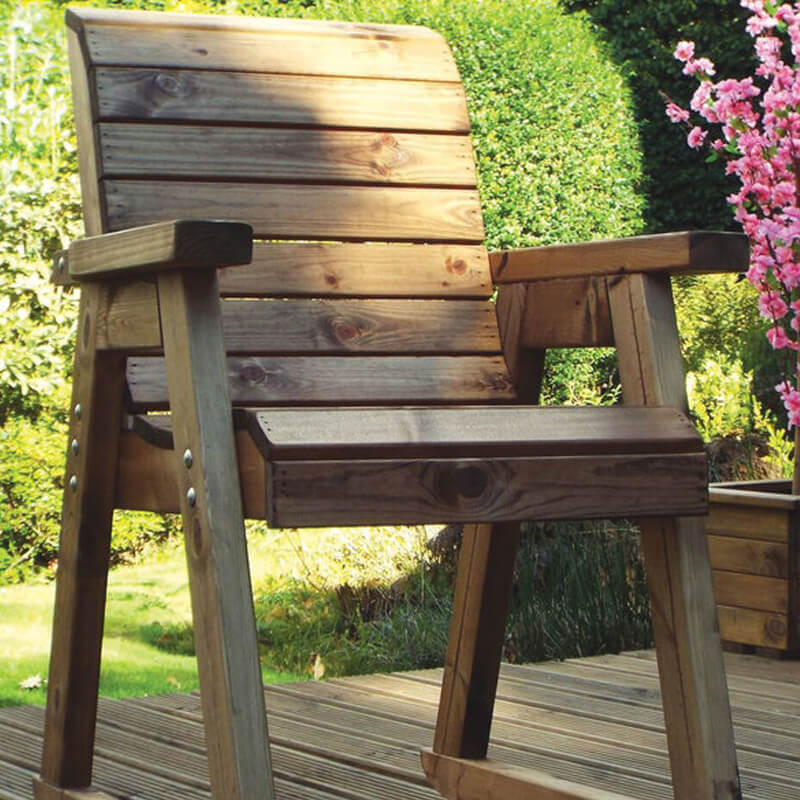 Wooden Garden Rocking Chair/