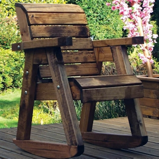 Little Fellas Kids Wooden Garden Rocking Chair