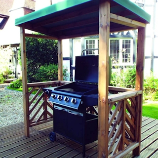 Dorchester Wooden BBQ Shelter - Green