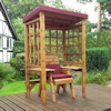 Wentworth Single Seat Wooden Garden Arbour - Burgundy/