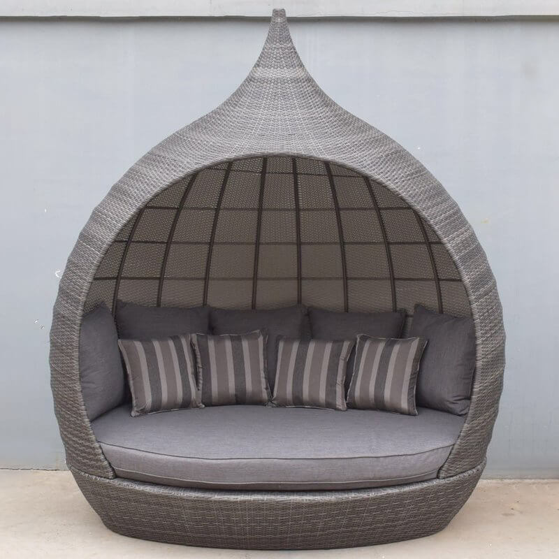 Flat Weave Pearl Daybed - Mixed Grey/
