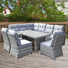 Amy Corner Dining Sofa With 3 Armless Chairs/