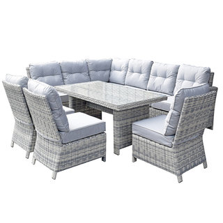 Amy Corner Dining Sofa With 3 Armless Chairs