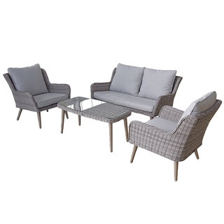 Alexandra Four Seat Sofa Set With Retro Legs