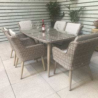 Alexandra Rectangular Dining Table Set With Retro Legs 150 x 100cm
