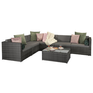 Evie Modular Sofa - Mixed Grey