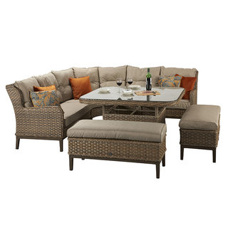 Diana Corner Dining Sofa With 2 Large Ottomans