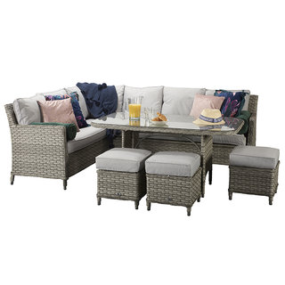 Edwina Corner Dining Sofa Set - Special Grey