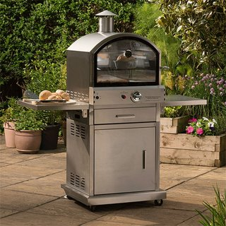 Milano Stainless Steel Deluxe Garden Gas Pizza Oven
