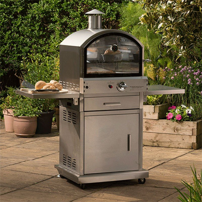 Milano Stainless Steel Deluxe Garden Gas Pizza Oven/