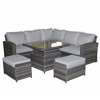 Victoria Corner Sofa Set With Lift Table & 2 Ottomans