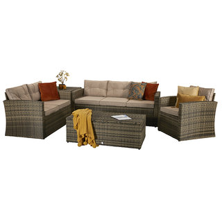 Holly Five Piece Sofa Set - Mixed Brown