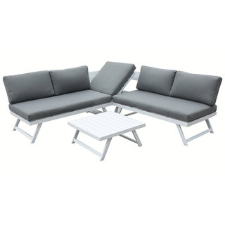 Kimmie Aluminium Corner Sofa With Adjustable Head Rest