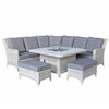 Meghan Corner Dining Sofa With Gas Fire Pit/