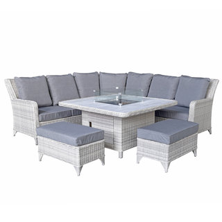 Meghan Corner Dining Sofa With Gas Fire Pit