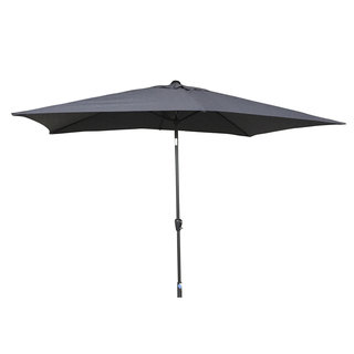 2.5m Table Parasol With Tilt - Grey