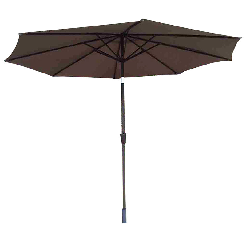 2.5m Table Parasol With Tilt - Chocolate/