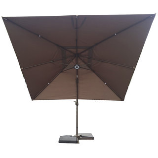 3x3m Square Cantilever Parasol - Chocolate