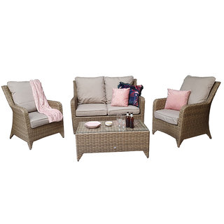 Sarah 4 Seater Sofa Set - Natural / Beige