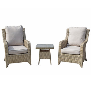 Sarah 3 Piece Lounge Set - Natural / Beige