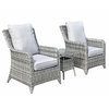 Sarah 3 Piece Lounge Set - Grey / Silver/