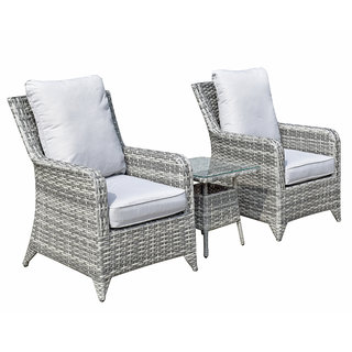 Sarah 3 Piece Lounge Set - Grey / Silver