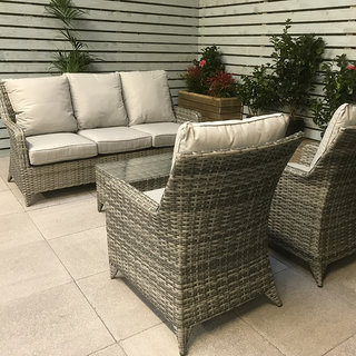 Sarah 5 Seater Sofa Set  - Grey / SIlver