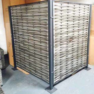 Grey Wicker Privacy Screen