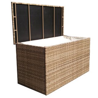Florence Large Caramel Wicker Cushion Box