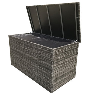 Flat Weave Large Cushion Box - Grey
