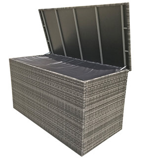 Flat Weave Medium Cushion Box - Grey
