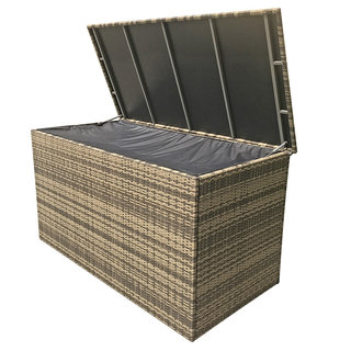 Flat Weave Large Cushion Box - Brown