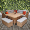 Elizabeth Corner Sofa With Lift Table & Ottomans/