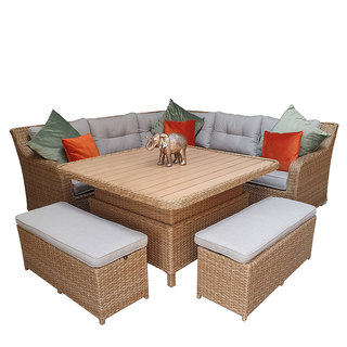 Elizabeth Corner Sofa With Lift Table & Ottomans