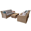 Elizabeth 5 Seater Sofa Set With Coffee Table/