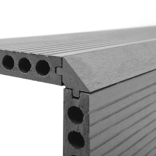 Ash Grey Composite Decking Finishing Step Edge - 1.8m