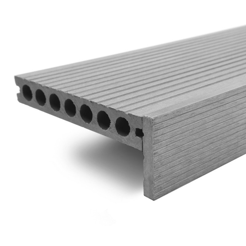 Ash Grey Composite Decking Finishing Straight Edge - 3.6m/