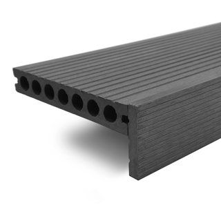 Charcoal Composite Decking Finishing Straight Edge - 3.6m