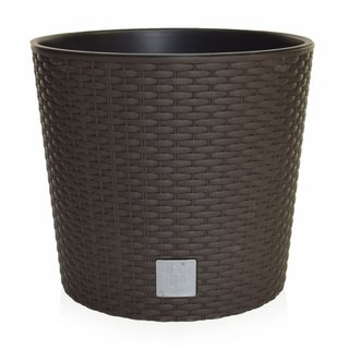 V-Pot Rato Round Brown Pot 27x30x30cm
