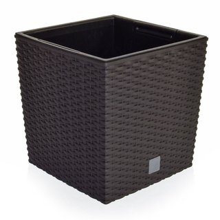 V-Pot Rato Low Square Black Pot 26x26x26cm