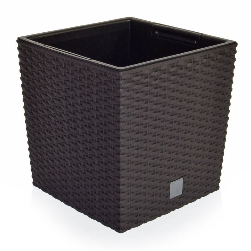 V-Pot Rato Low Square Black Pot 26x26x26cm/