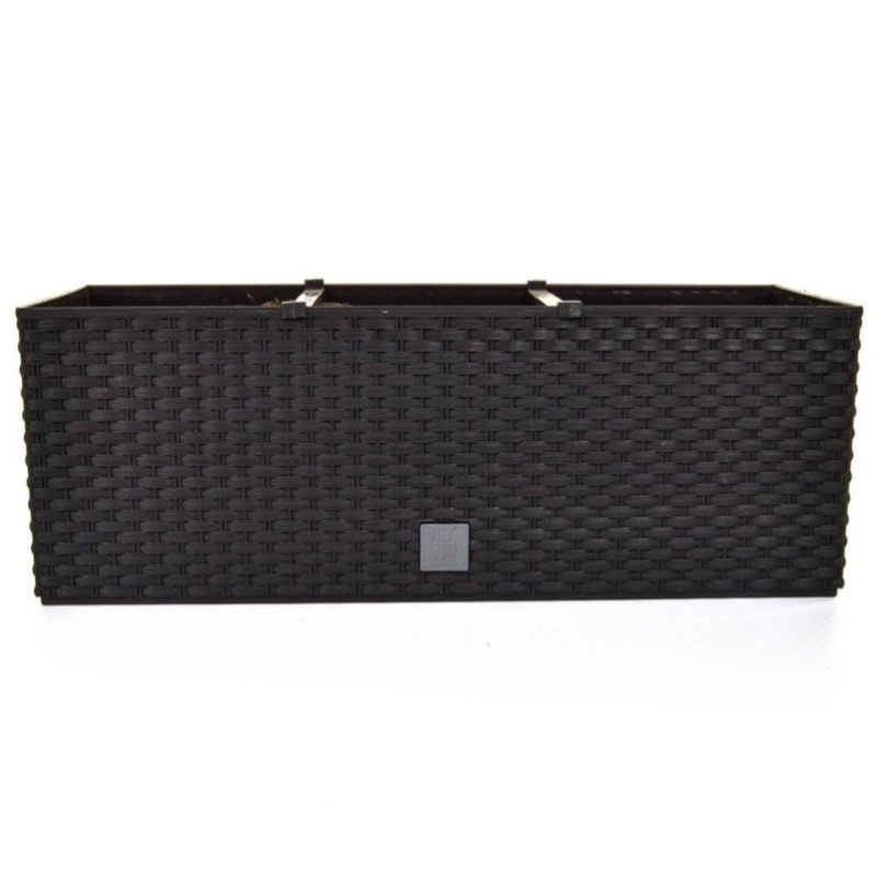 V-Pot Rato Trough Planter Black 19x51x18cm/