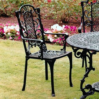 Victorian Carver Chair - Black