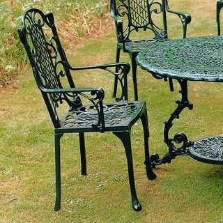 Victorian Carver Chair - Green