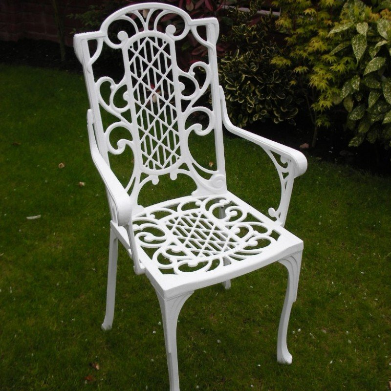 Victorian Carver Chair - White/