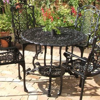 Victorian Round Table - Black