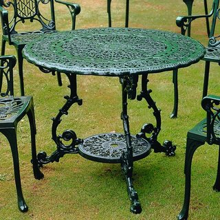 Victorian Round Table - Green