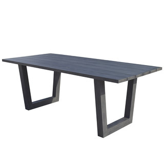 Victoria Aluminium Grey Dining Table 200 x 100cm