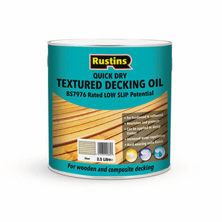 Rustins Quick Dry Textured Decking Oil - Clear 2.5L